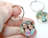 Sterling Silver Personalized Grandparent Photo Key Ring, Christmas Gifts For Dad, Gifts For Men, Birthday Gift Ideas