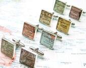 SALE - Custom Map Cufflinks In Sterling, Christmas Gifts For Men, Etsy Cufflinks