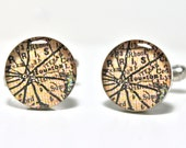 Houston Texas Map Cufflinks, Gifts For Men
