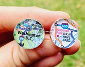 Washington Nationals Cufflinks Map Gifts