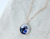 Rose Gold Photo Mothers Necklace, Grandmother Gift, Personalized Jewelry, Customized Mother's Day Pendent