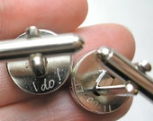 Sterling Silver Engravable Cufflinks  Gifts, Grooms Gift from Bride, Anniversary Gifts for Men, Engraved Gifts, Groomsmen Gift