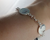 Sterling Silver Keepsake Triple Photo Charm Bracelet Mothers Day Gift, Christmas Gifts For Her