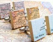 You Choose Map or Dictionary Scrabble Tile Cufflinks as featured on Parents.com, Gifts For Boyfriend