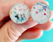 Child Art Cuff Links // Child's Artwork into Gifts //  Your Child's Drawing // Father's Day Gifts // Christmas Gifts For Husband