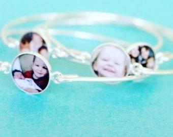Photo Bracelet, Picture Bracelet, Photo Bracelet For Woman, Sterling Silver Photo Bracelet, Armband, Custom Photo Bracelet