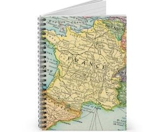 Paris France Spiral Notebook - Ruled Line