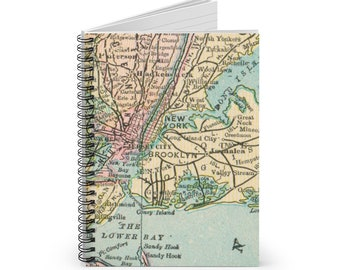 NYC, New York, Brooklyn, Long Island Spiral Notebook - Ruled Line