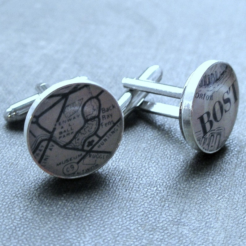 Sterling Silver Boston Red Sox Cufflinks Gift Stocking Stuffers For Men