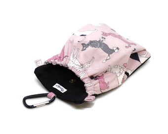 The Pocket 2.0 - Treat and Training Pouch - Pink with Dogs -   Large Size