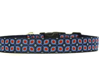 1 Inch Wide Dog Collar with Adjustable Buckle or Martingale in Mastery