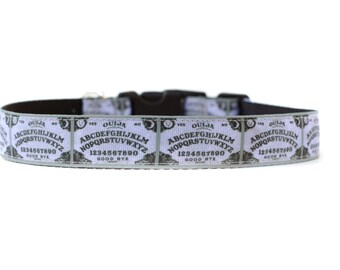 1 Inch Wide Dog Collar with Adjustable Buckle or Martingale in Ouija Board