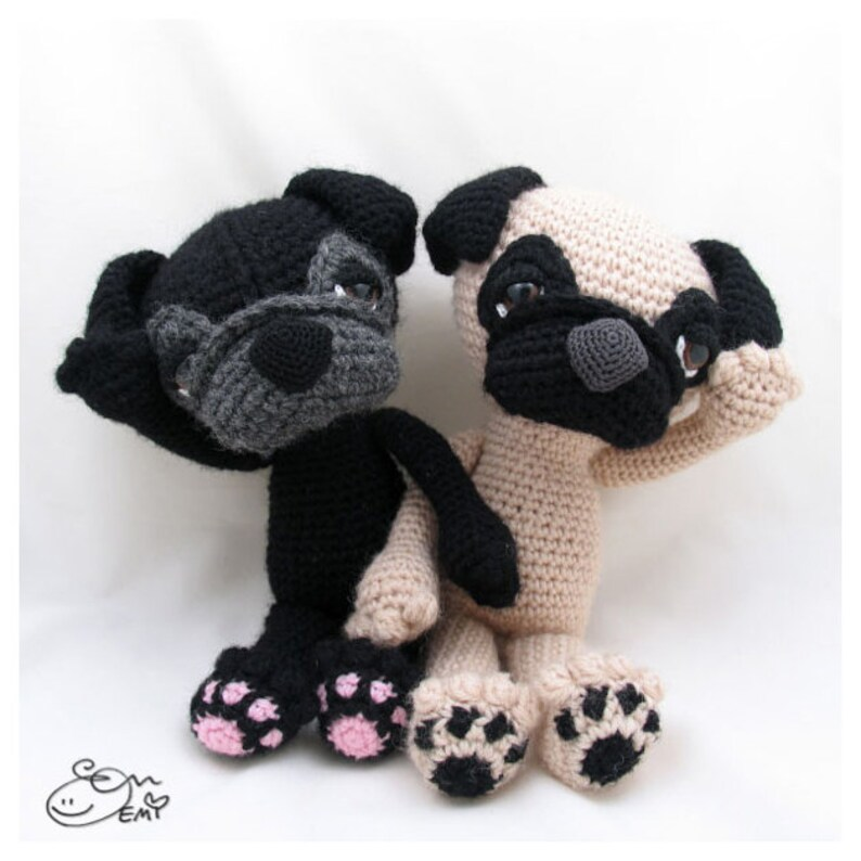Barry, The Pug - Amigurumi Pattern - Delicious Crochet | 794x794
