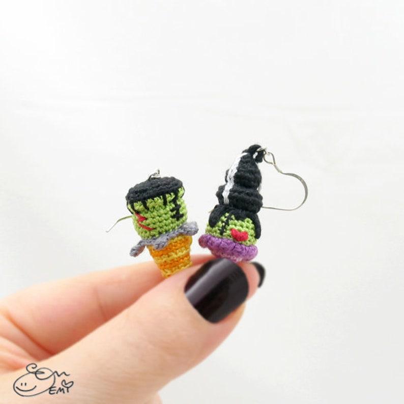 PDF Amigurumi / Crochet Pattern Frankenstein Ice Cream Cone image 0