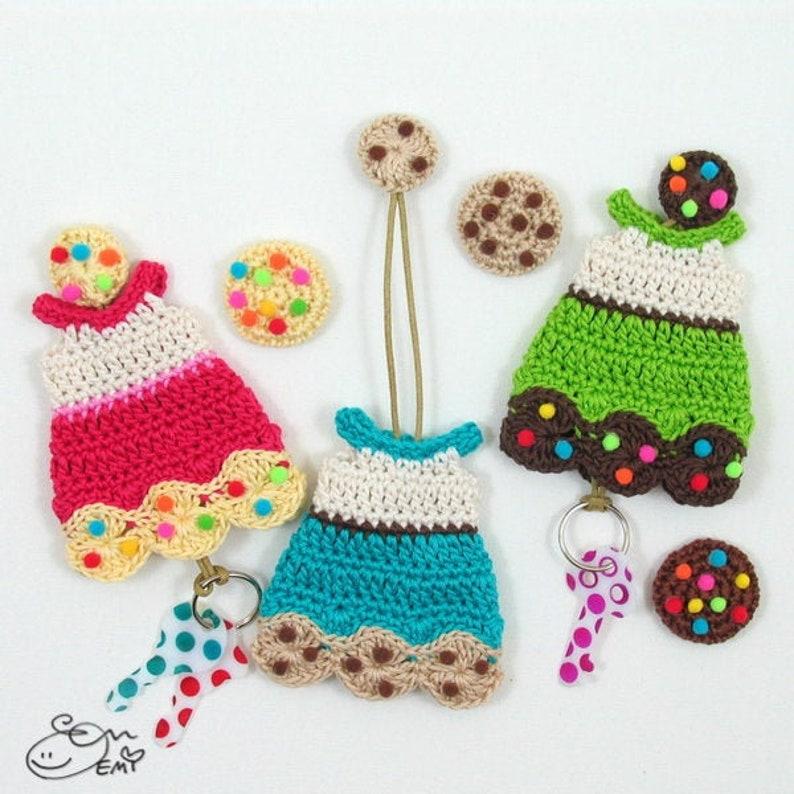 PDF Crochet Pattern Cookie Dress Key Cozy  CP-16-3347 image 0