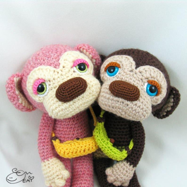 PDF Amigurumi / Crochet Pattern Sleepy Eye Monkey  Lulu and image 0