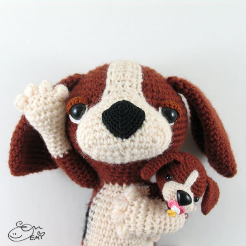 PDF Amigurumi / Crochet Pattern Sleepy Eye Dog  Miso the image 0