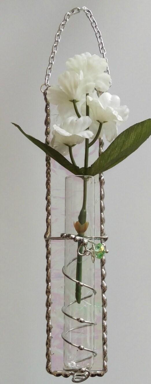 Stained Glass Hanging Bud Vase Test Tube Vase Etsy