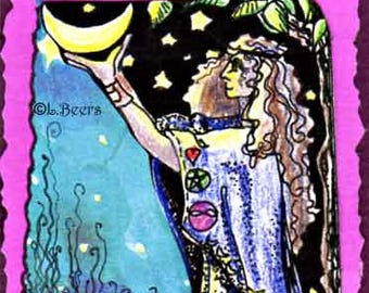 Drawing Down the Moon... an Artist Trading Card