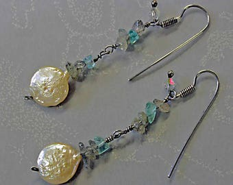 The Glowing Full Moon... earrings that spark magick into the night.
