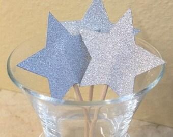 Star Cupcake Topper/Party Picks - Set of 12
