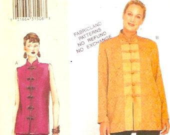 Vogue 7263 Todays Fit Sewing pattern Chic evening Pants tops Sandra Betzina Bust 32 tp 36 A B C UNCUT