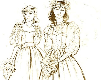 Prairie wedding gown sewing pattern Womens Weekly 982 Summer Brides Size 10 to 20