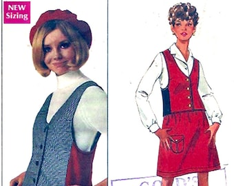 Designer Mary Quant Sewing pattern Skirt and Weskit 60s Mod vintage Butterick 5008 Bust 31 UNCUT