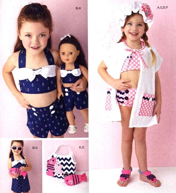 Mädchen retro Badeanzug Spielanzug Puppe Muster Sommer Mode | Etsy