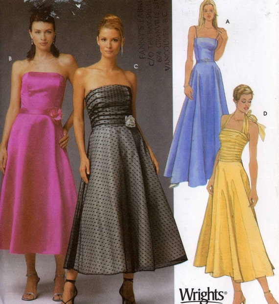 Plus Size Dress Halter Strapless Or Thin Straps Sewing Pattern Etsy