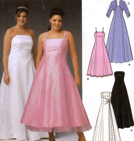Plus Size Brides Wedding Pattern Grad Dress Shrug Bolero Etsy,Fall Maxi Dresses For Wedding Guest