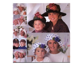 Mother Daughter Hats Beret Baseball hat Sun Hat sewing pattern Simplicity 8268 both sizes UNCUT