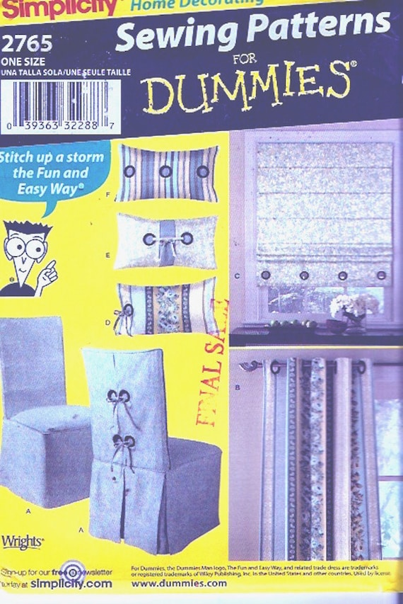 Decor Chair Covers Home Decor Sewing Pattern For Dummies Etsy