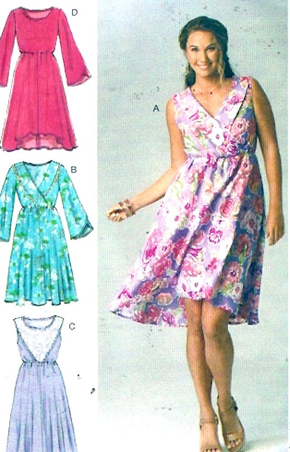 Summer Boho dress pullover casual style sewing pattern McCalls | Etsy