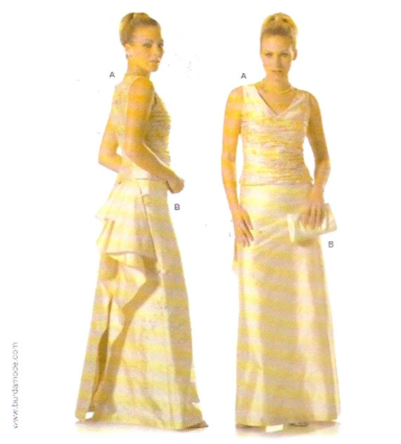 Treiben Sie Hochzeit Kleid Schnittmuster Abendmode Burda 7919 | Etsy