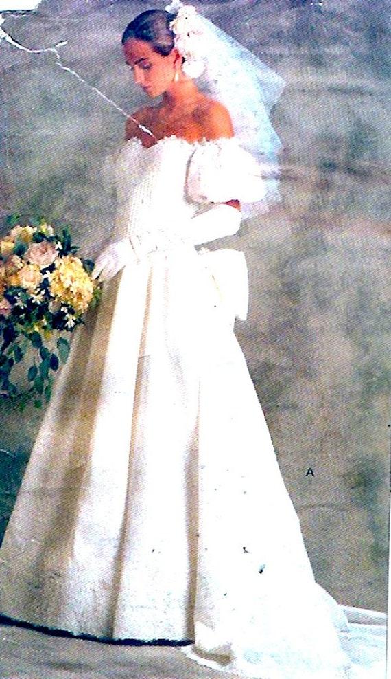 80s Brides Gown Bridal Original Wedding dress Vintage Sewing | Etsy