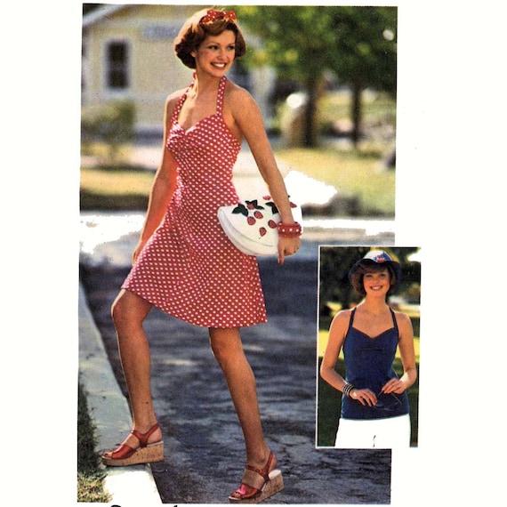 70er Jahre Brautjungfer Kleid Neckholder Kleid Schnittmuster | Etsy