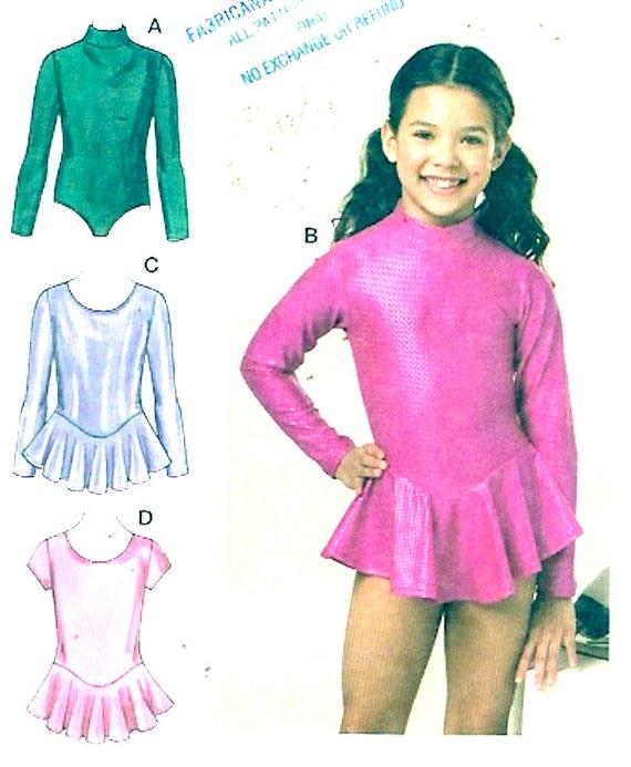 Girls Dance Costume Athletic Gymnastic Unitard Sewing Pattern Etsy