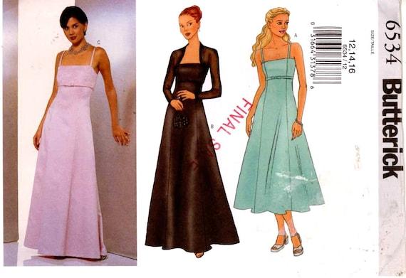 Abendkleid und Achselzucken Schnittmuster Brautjungfer | Etsy