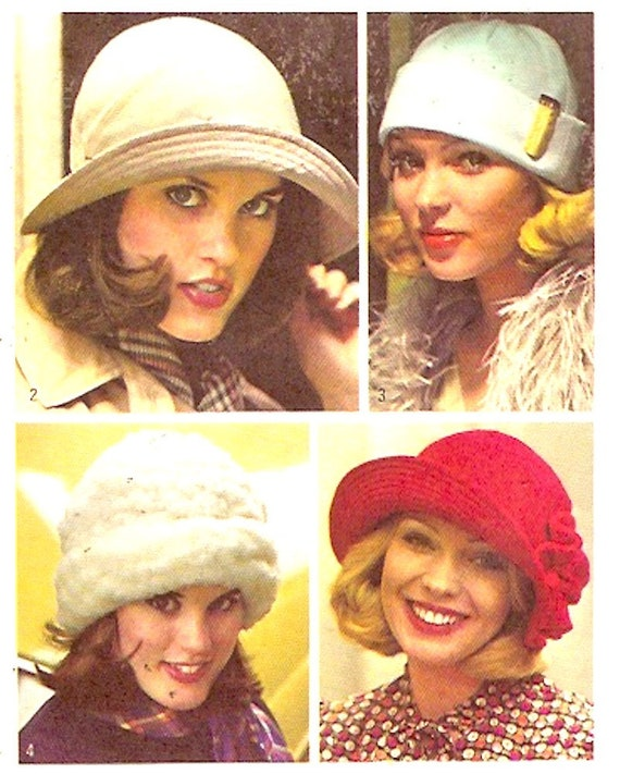 70s Womens Hats Simplicity 6650 Sewing pattern 4 styles of  ac107947dfc