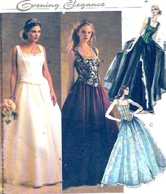 Bräute Hochzeit Kleid romantisch McCalls 3676 Schnittmuster | Etsy
