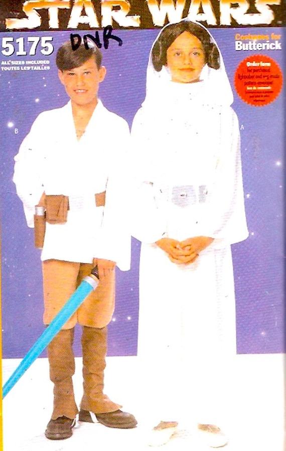 Kids Star Wars Sewing pattern Princess Leia Luke Skywalker | Etsy