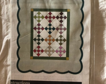 Quilts Ladies Small 9 Patch Quilt Special Occasion New Unused