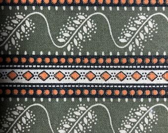 Vintage 1990s cotton print fabric 1 yard