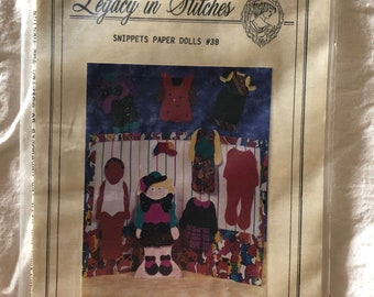 Legacy in Stitches Snippets Paper Dolls #38