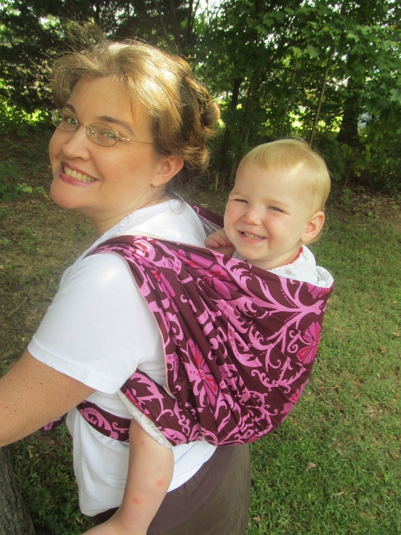 Woven Baby Wrap Carrier Linen Blend Magenta Dvd Included Etsy