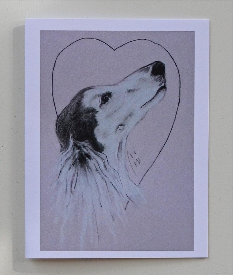 Into The Heart Saluki Dog Art Note Cards By Cori Solomon