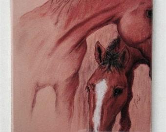 Horse Art Tile Coaster Trivet By Cori Solomon