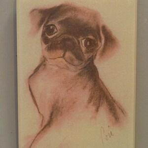 Black Fringed Red Saluki Dog Art Mouse Pad by Cori Solomon