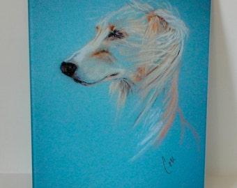 Windhound Saluki Art Glass Cutting Board By Cori Solomon